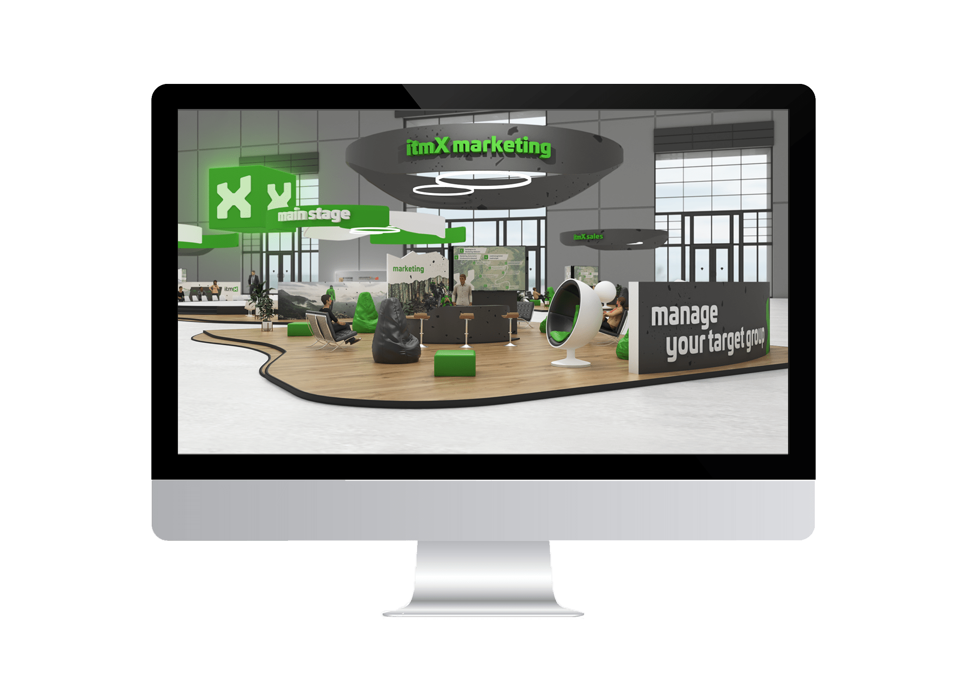 virtual Xperience - itmX marketing screen