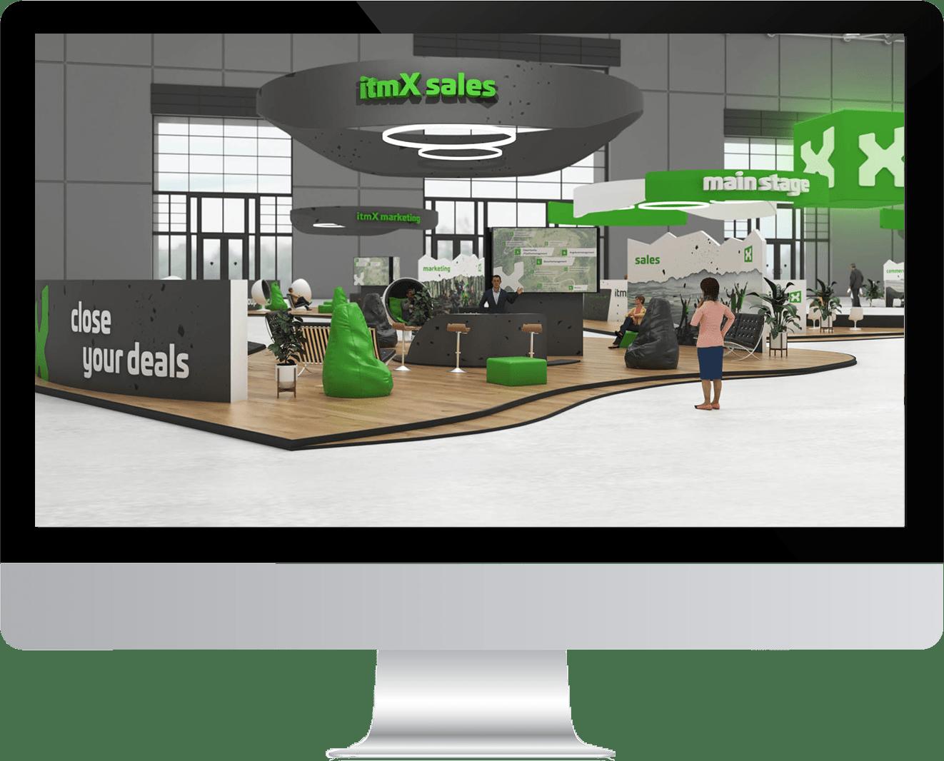 virtual Xperience - itmX sales screen