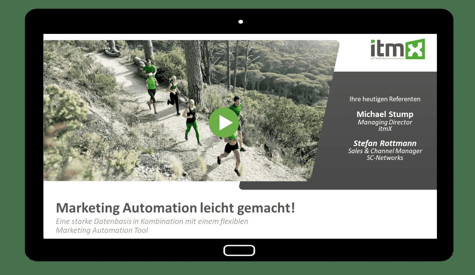 Webinar: Marketing Automation leicht gemacht
